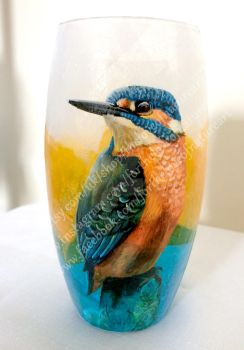 Kingfisher Vase by TheLoveofNatureArt