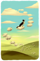 Maxwell And The Fleecy Clouds by Canvascope
