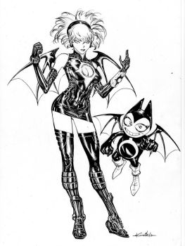Shadow Lady and Demota - drink'n'draw by SpiderGuile