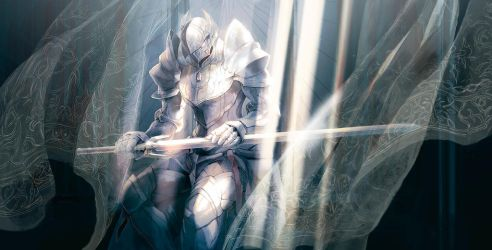 Paladin of pure silver by Horocca