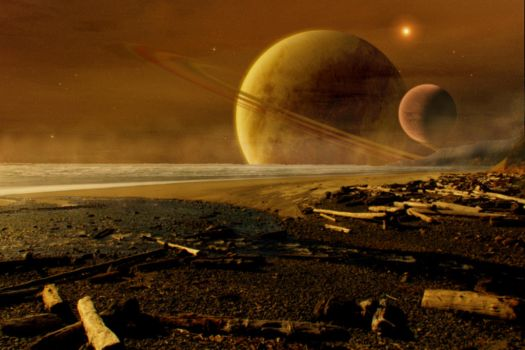 Beverly Beach Oregon in Space by Coelophysis83