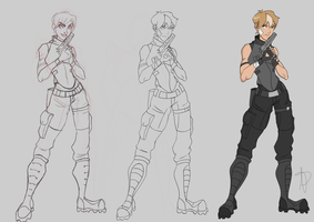 Nine: Character redesign ( The Process) by JVA-Doodles