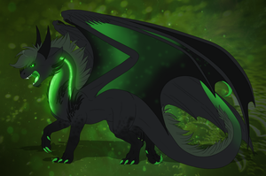 Ziro the dragon Redesign ( contest ) by Anais-thunder-pen