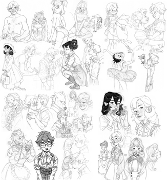 Some big sketch dump by Inimeitiel-chan