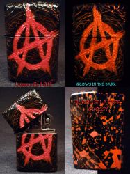 Anarchy Zippo by Undead Ed Glows in the Dark 1 by Undead-Art