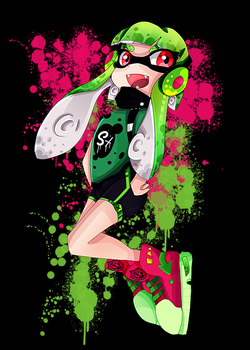 Xuan Aquit Splatoon OC 2,0 by SattoBless