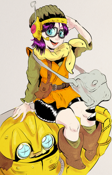Lucca and Robo (Chrono Trigger) by Wooga