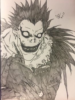 Ryuk the Shinigami from the anime Death Note by ClarkRankins