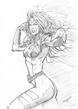 Jean Grey pencils by MenguzzOArt