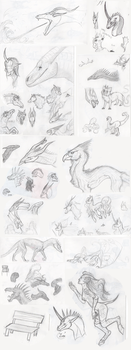 sketchdump #001 [2018,january-march] by EviDragons
