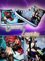 League of Legends shoes by Raw-J