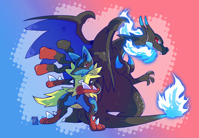 Commission - Mega Duo by raizy