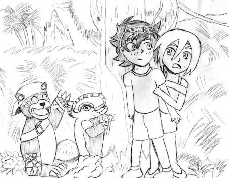 Day 1 : First encounter with their Digimon Partner by rejeneracion