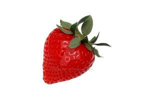 Juicy strawberry transparent background. by PRUSSIAART