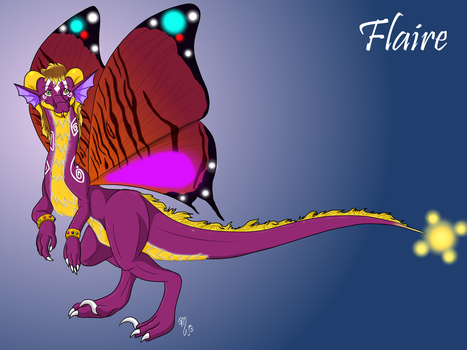 Flaire the Butterfly Dragon (Description bellow) by Dragonsfriend90