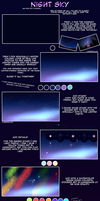 Night Sky - Tutorial by LynnesGalaxy