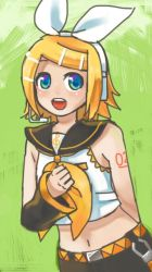 Rin-chan drawn with iPod by grimay