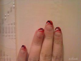 French red nail art by Hrasulee