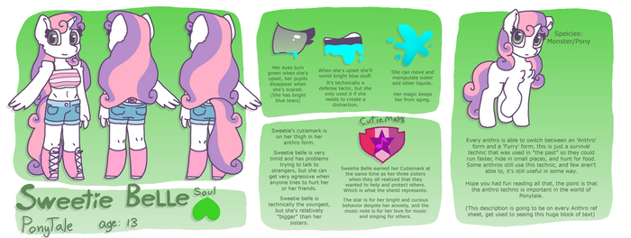 PT Sweetie Belle reference sheet by synnibear03