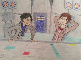 Sherlock: the Name of the Doctor by Stevethepencil