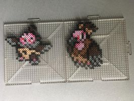 #629-#630 Vullaby and Mandibuzz Perlers