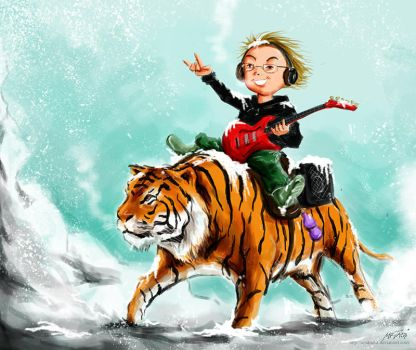 Ride The Tiger To The Silver Mountain by acakadut