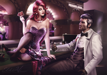 League of Legends - Miss Fortune and Jayce by Eldervi