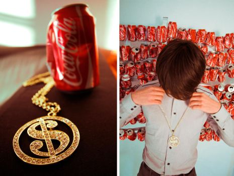 Money and Coca by PinkyPinkasso