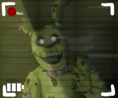 Five Nights at Freddy's 3 Springtrap (static) by mist-lightning-snap