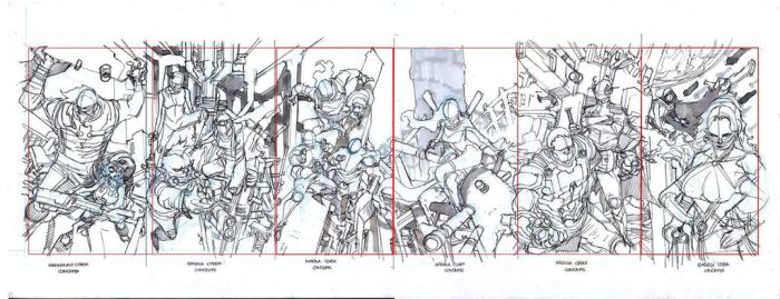 Savage Sasquanaut cover layouts by Wesflo