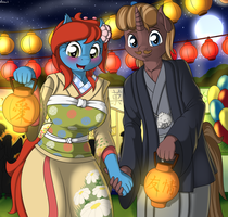 At the festival by Ziemniax
