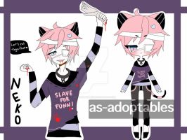 crazy cannibal neko adoptable CLOSED by AS-Adoptables