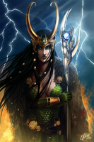 Lady Loki by elz-art