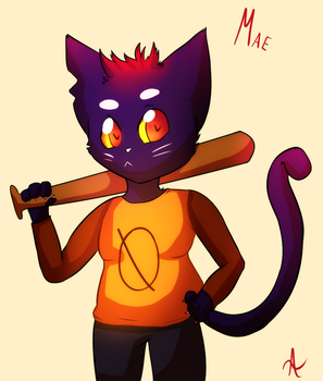 Mae - Night In The Woods fanart by indorak