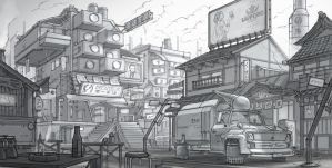 Cyberpunk Japan by Sketchshido