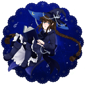 [Wadanohara and the Great Blue Sea] the Sea Witch by sakurakaama