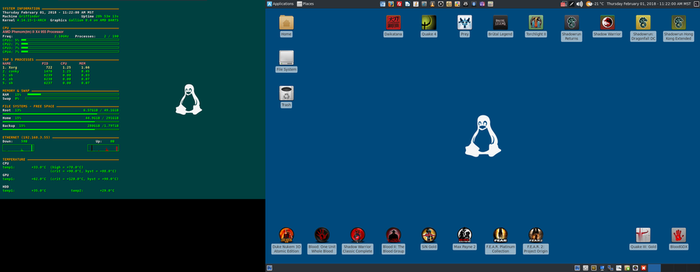 February 2018 Desktop - Arch Linux and Xfce by hamishpaulwilson
