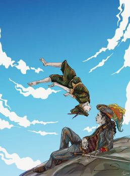 Peter Pan and Captain Hook by ssst