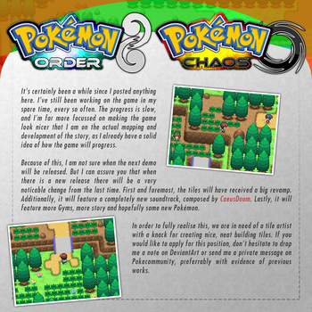 Pokemon Order / Chaos Update - April 2017 by Rayquaza-dot