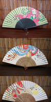 painted paper fans by chid0