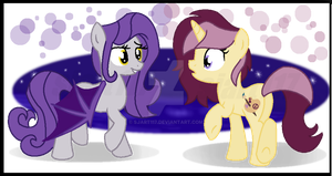 Hello There, Batpony! - Mona Pia and Lannie Lona by SJArt117