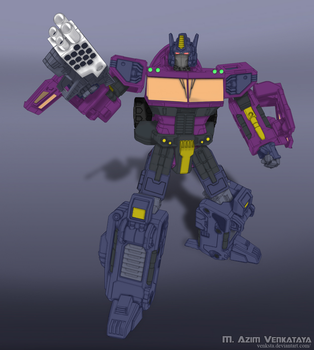 Classic Shattered Glass Optimus Prime by PalettePix