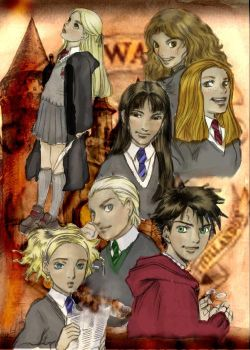 Hogwarts students by louloudia1983