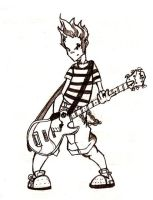 Me with my guitar -Sketch- by JordiHP