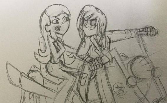 Oc and Dakota on motorcycle - REQUEST by Hipeople4944