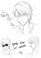 Yuri on Ice and MM Sketch Dump by TrainerAshandRed35