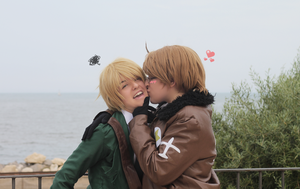 [APH] America nd' England - Forced kiss by KasumiVI