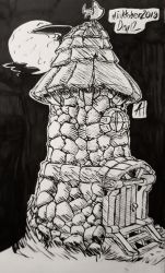 The Lighthouse - Inktober 2018 Day 12 by AniMana21