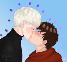A Cheeky Kiss [ HP//Scorbus +SPEEDPAINT ] by oh-no-Castiel