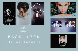 PACK +20K ON FACEBOOK - EXO Wallpapers Pack by EXOEDITIONS
